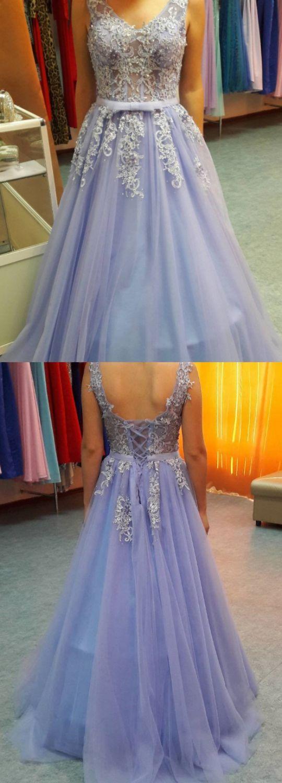 Vneck prom dresses lavender long prom dresses lavender lace up