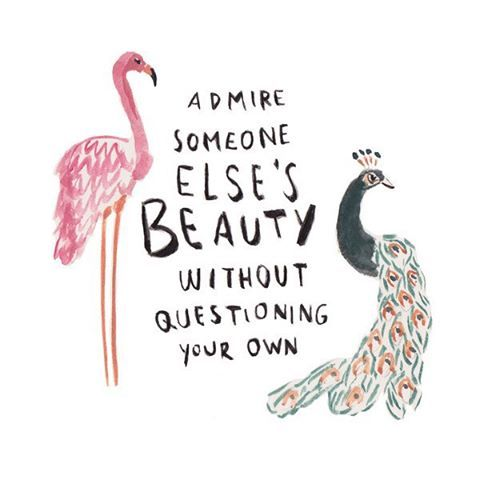 Image result for admire someone else's beauty without