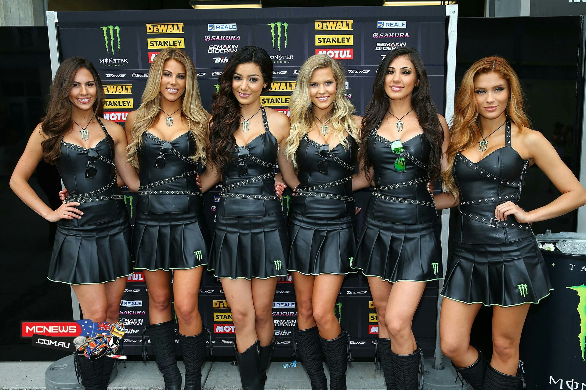 Monster Promo Girls In Leather Minidresses And Boots