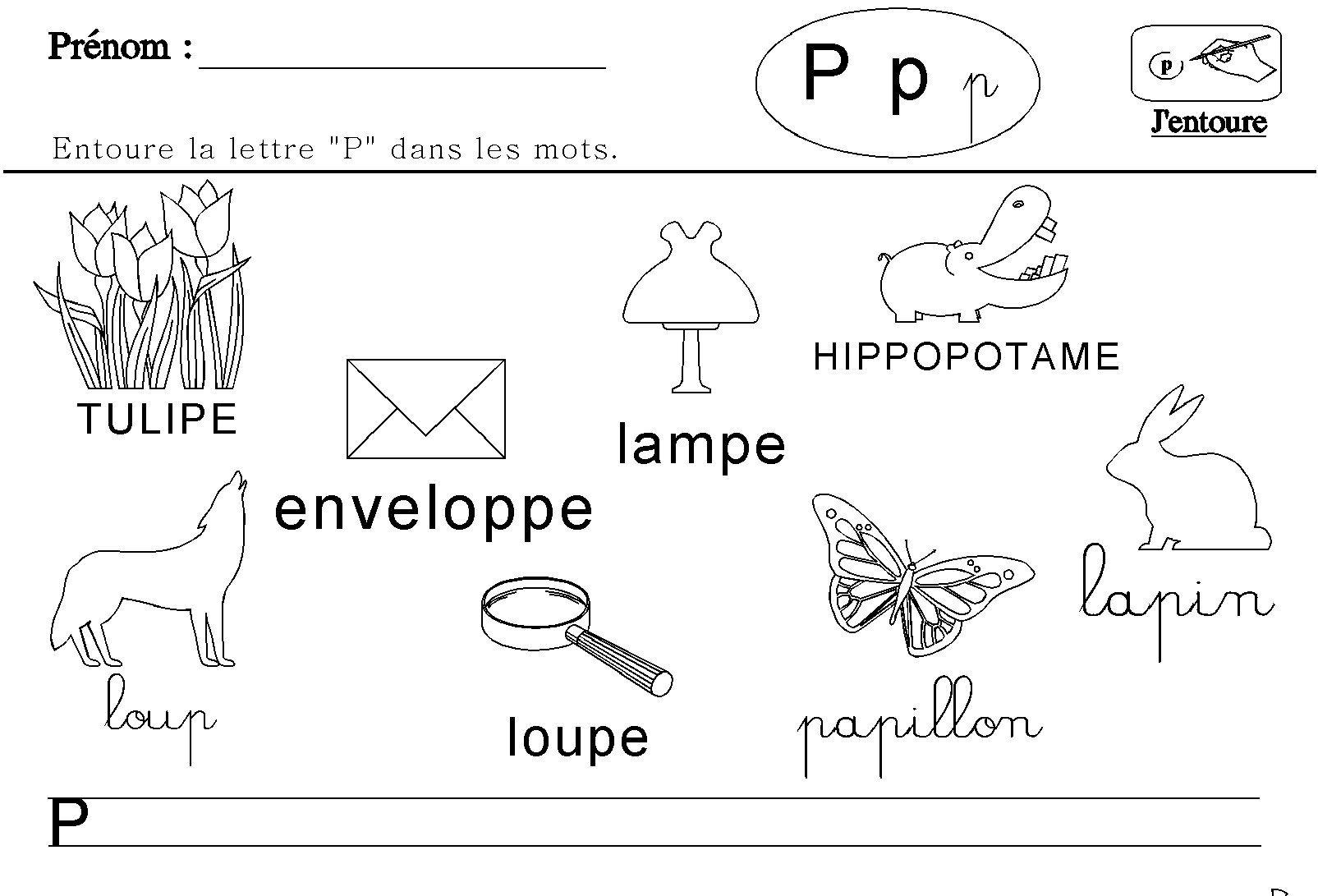 Maternelle : lecture des lettres de l'alphabet (avec images ...