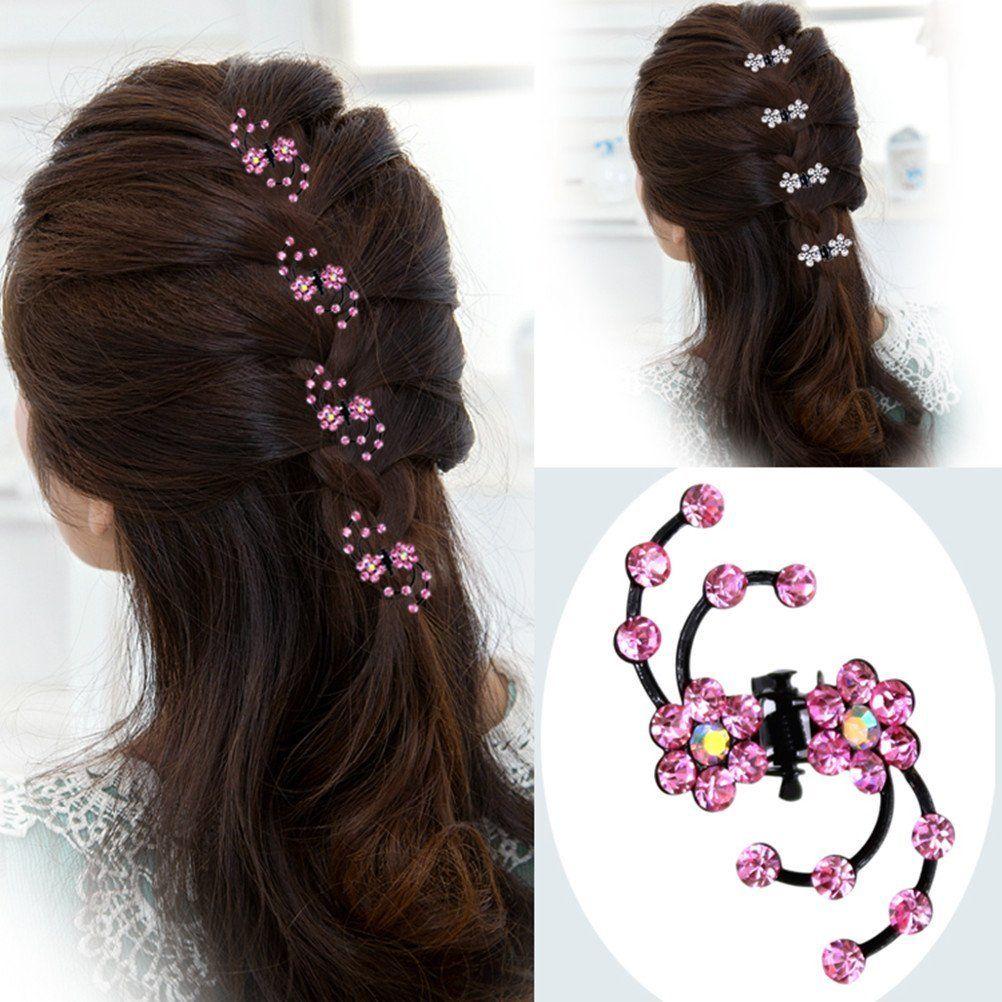 cuhair(tm) 10pcs wedding rhinestone crystal women girl hair clip