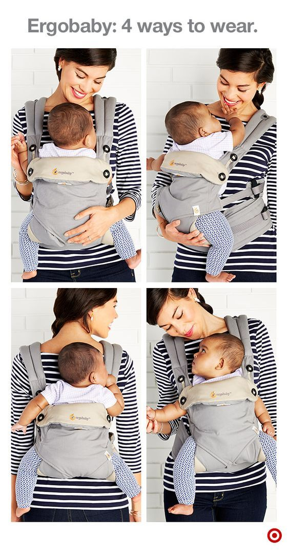 ae64d8931bb The Ergobaby 4 Position 360 Baby Carrier is as versatile as it is  comfortable. Easily carry Baby in four different ergonomic positions   front-inward