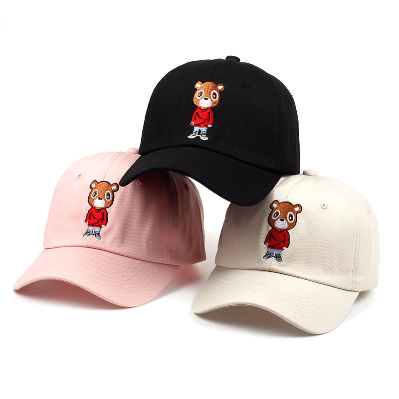 Kanye West Graduation Dropout Bear Baseball Dad Hat Price  19.95   FREE  Shipping  sets a663856d417