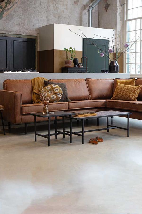 Design Couchecke Grandessa in Cognac Braun