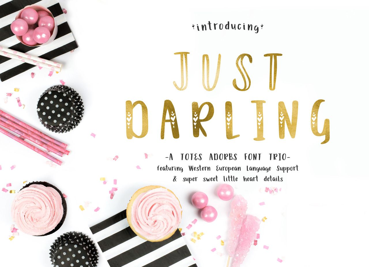 Just Darling An Adorable Font Trio Https Autumnlanepaperie Com