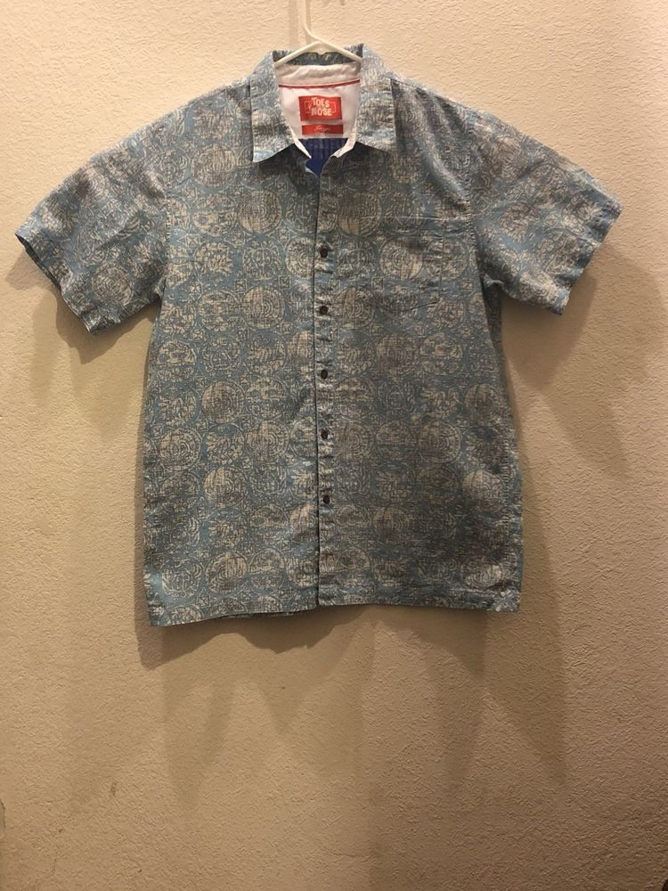 86efe845 Toes On The Nose Dream Fit Blue Hawaiian Lounge Short Sleeve Shirt Size L  Large #fashion #clothing #shoes #accessories #mensclothing #shirts (ebay  link)