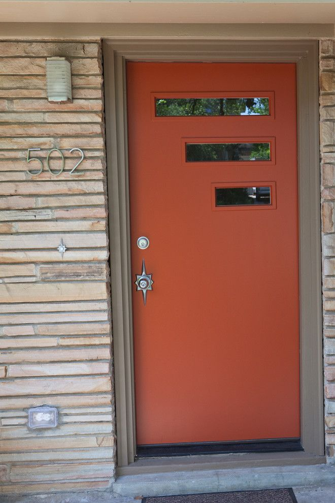 Crestview Doors Midcentury Entry Designs Austin Crestview Doors