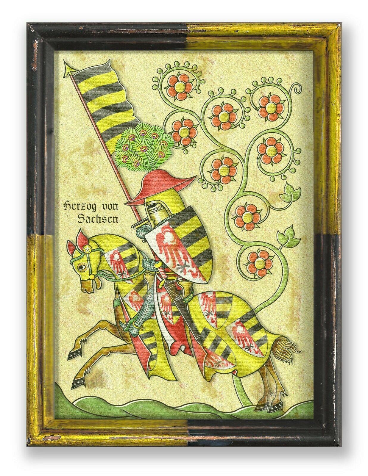 Herzog von Sachsen Wappen Ritter Lausitz Magdeburg