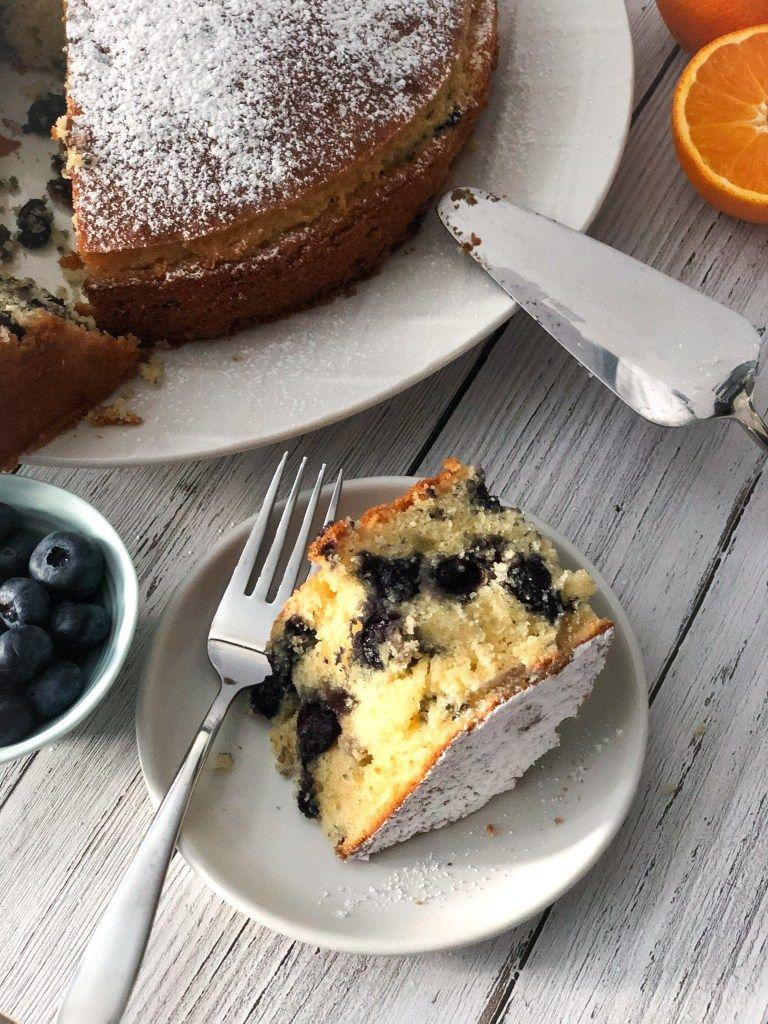 Blueberry almond cake recipe in 2020 almond cakes