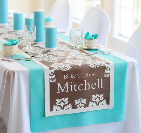 Holiday Gift Guide: Damask Wedding Table Runner