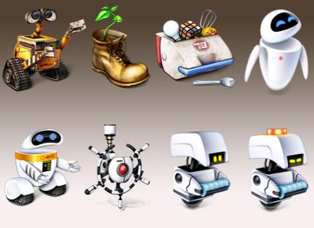 wall e robots pizza cat free icons icon on wall e id=11611