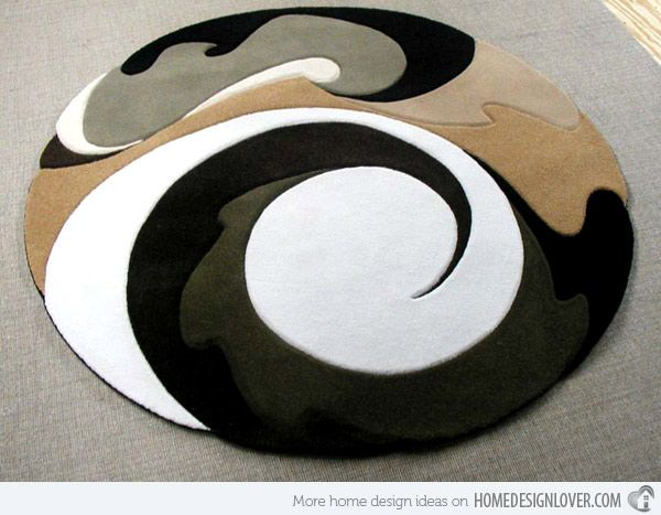 15 Geometrical And Artisitc Modern Round Area Rugs Con Immagini