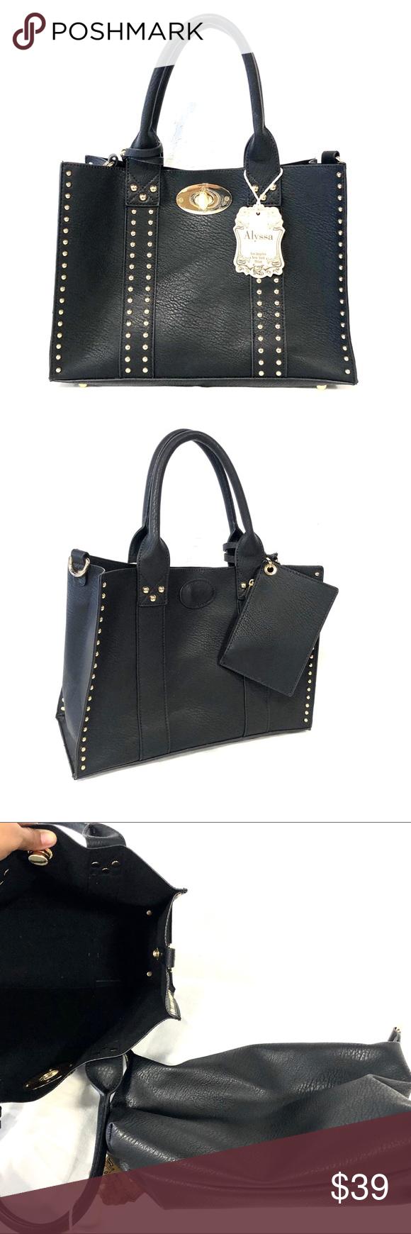 Alyssa Black Handbag Purse Bags Black Handbags Handbag Bags