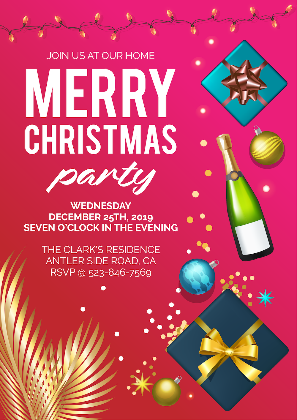 Gift Theme Christmas Party Invitation Template Christmas Party Invitation Template Party Invite Template Christmas Party Invitations