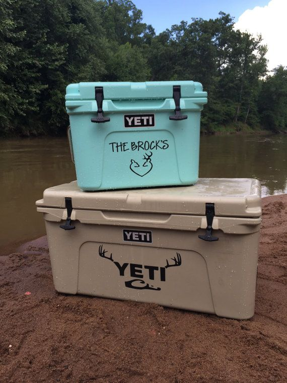 Vinyl sticker for yeti or any cooler by brockdrdesigns on etsy