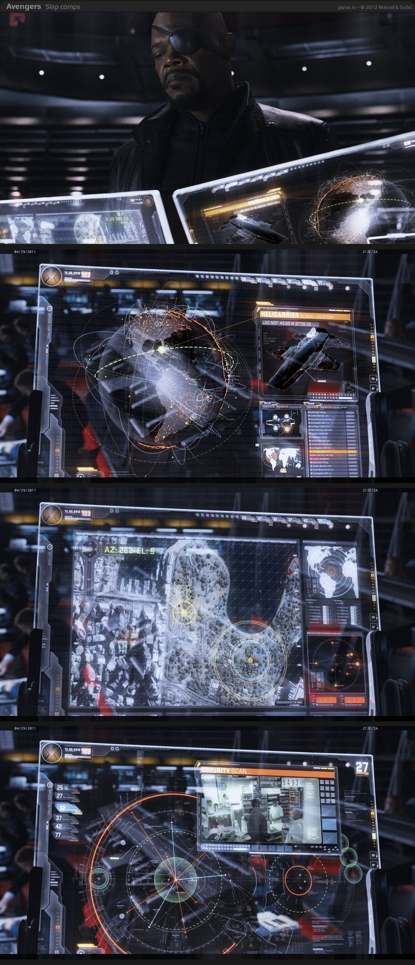 Jayse Hansen Portfolio | Avengers Helicarrier Fury's Glass Screens | Jayse Hansen Portfolio |