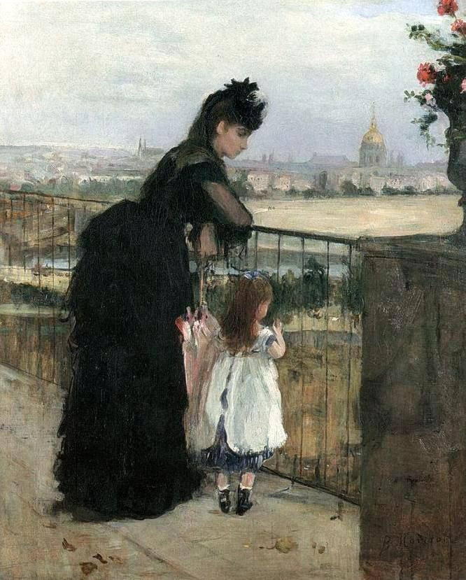 Woman and Child at the Balcony (1872)