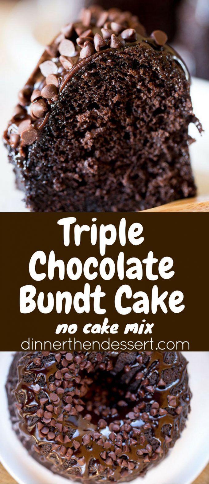 Triple Chocolate Bundt Cake | Recipe | Pinterest | Chocolate cakes ...