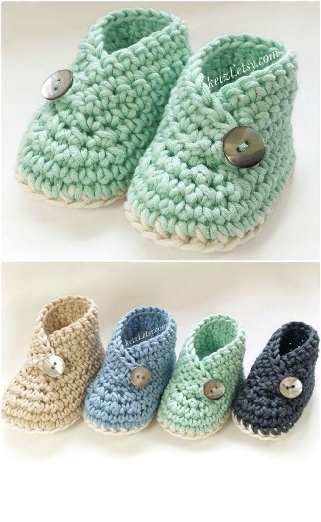 Crochet Kimono Baby Shoes Pattern #haken