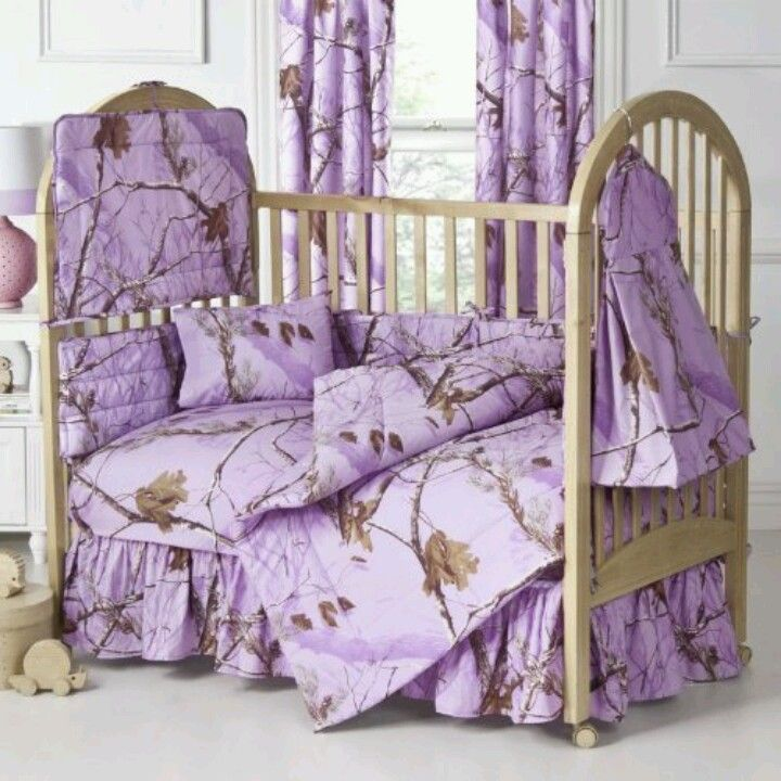 Purple Realtree baby bedding