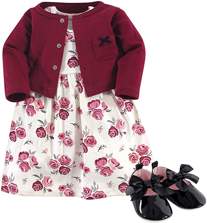 Hudson baby Baby Girls Dress and Cardigan Set Casual