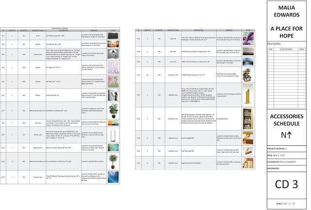 Construction Documents Schedule Template Construction Documents Interior Design Furniture