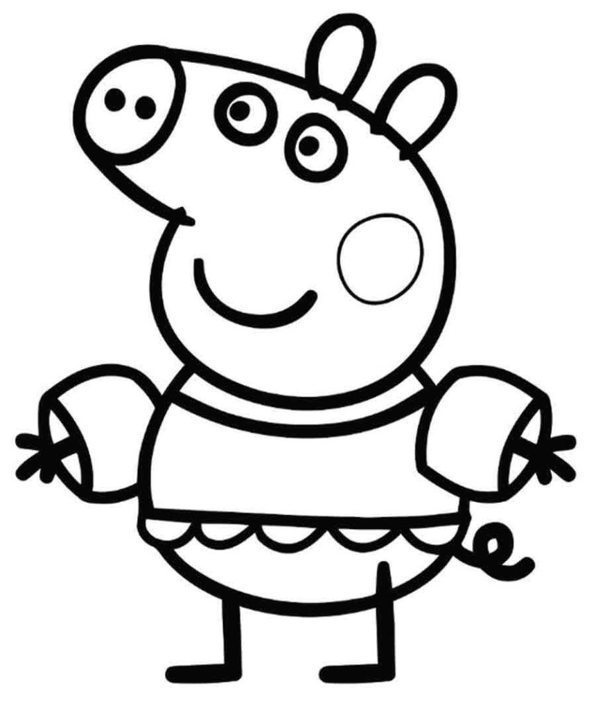 Peppa Pig Coloring Pages Peppa pig coloring pages, Peppa