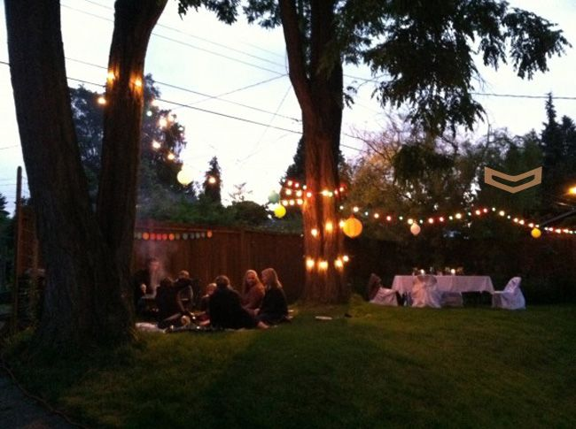 summer backyard party | Backyard party lighting, Backyard ...