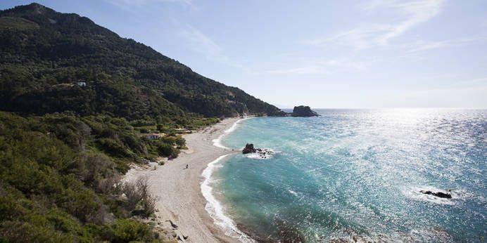 Potami Strand auf Samos