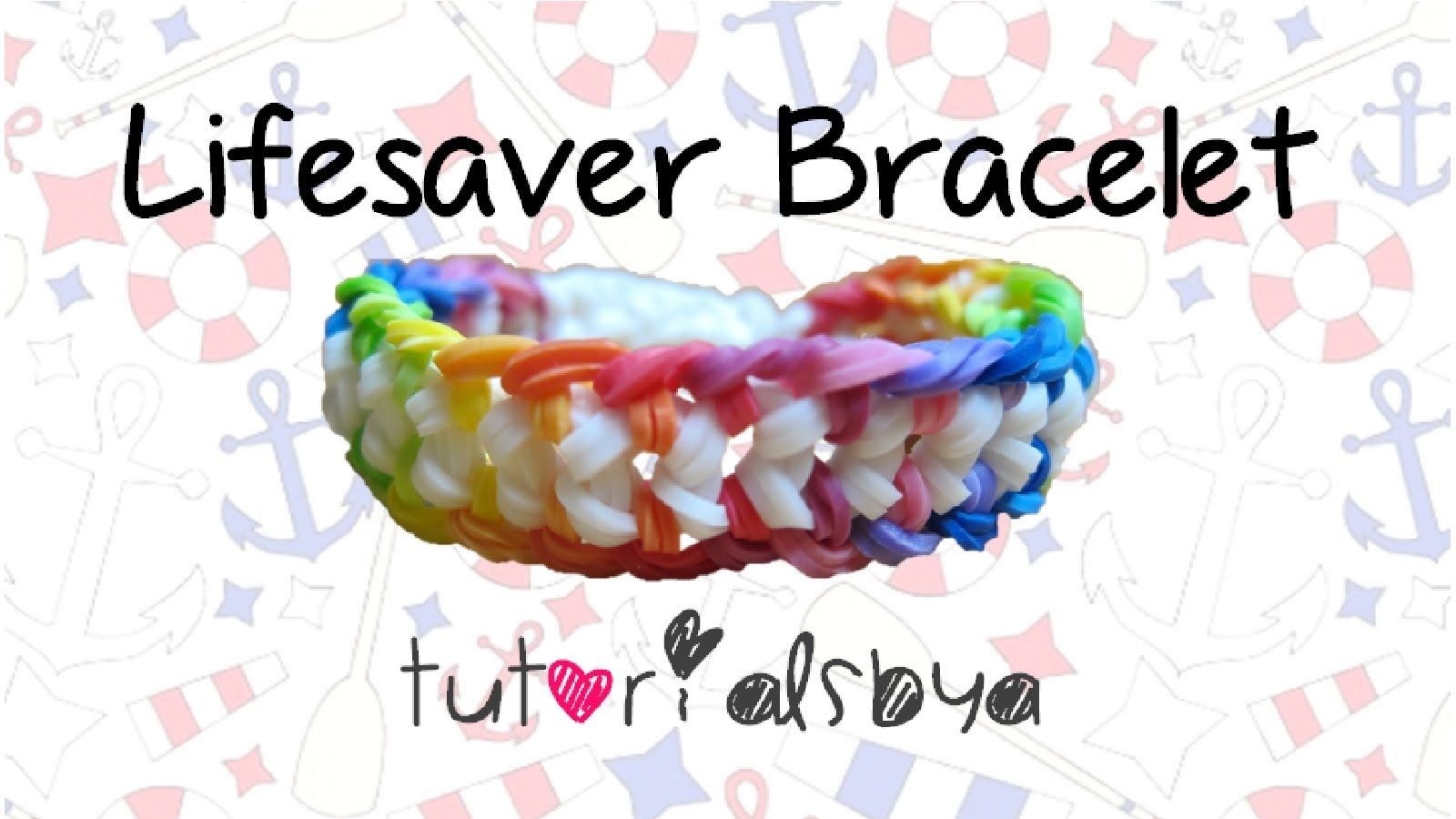 New lifesaver rainbow loom bracelet tutorial original design by
