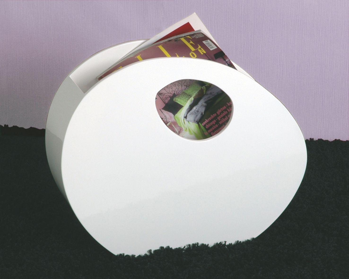 Zeitungsständer Modern zeitungsständer weiss hochglanz lackiert woody 191 00080 holz modern