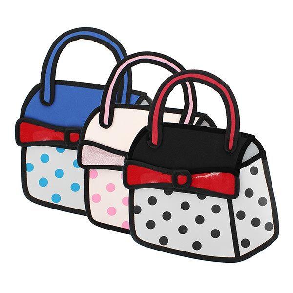 Sweet Girls D Bowtie Cartoon Bag Handbag D Cartoon Comics Bag - Cartoon handbags