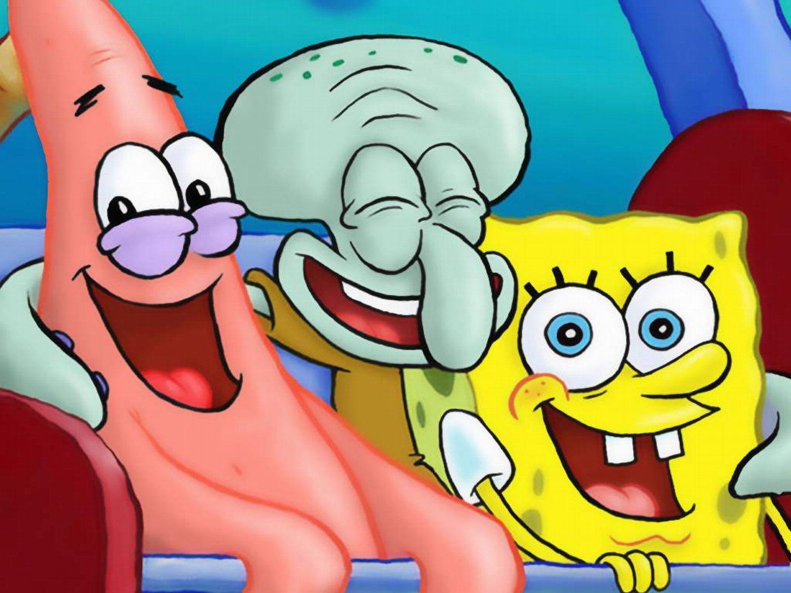 Spongebob Squarepants Patrick Star and Squidward Tentacles