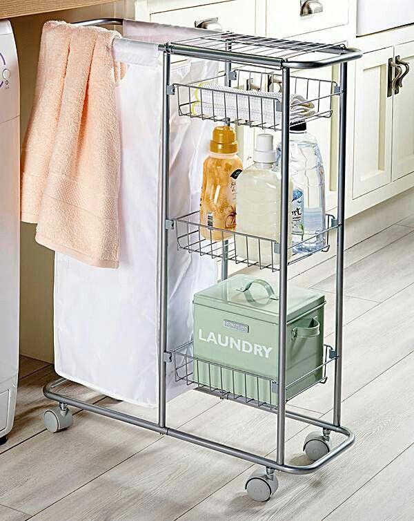 Slimline Laundry Basket On Wheels