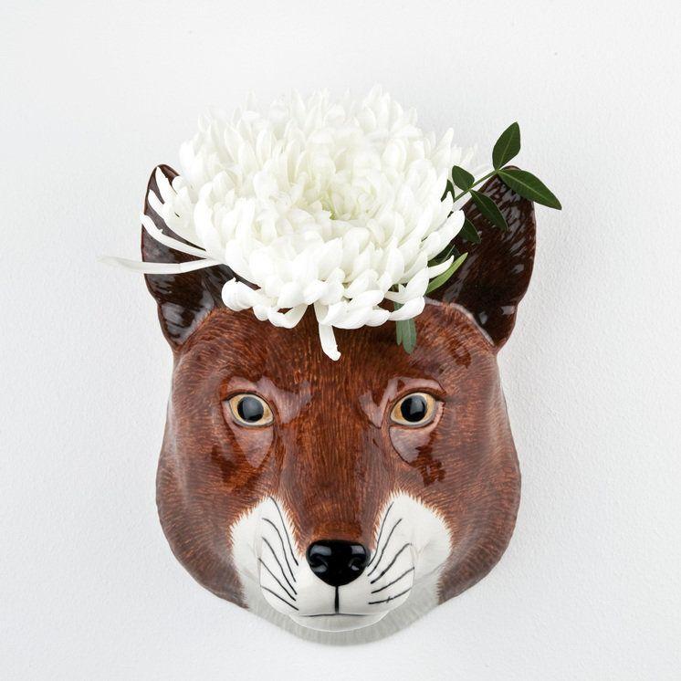 QUAIL CERAMIC FOX HALF PINT JUG WILDLIFE ANIMAL HEAD FIGURE MODEL OR ORNAMENT