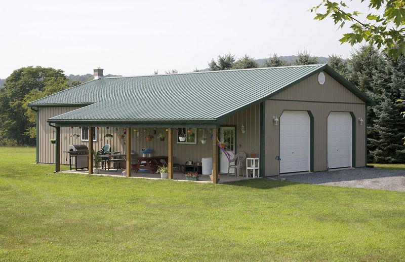 Pole barn lean to design residential pole building Metal pole barn homes plans