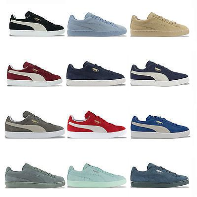 Puma Suede Classic Trainers Black Blue Burgundy Grey Navy Green More Puma Suede Navy And Green Puma Suede Trainers