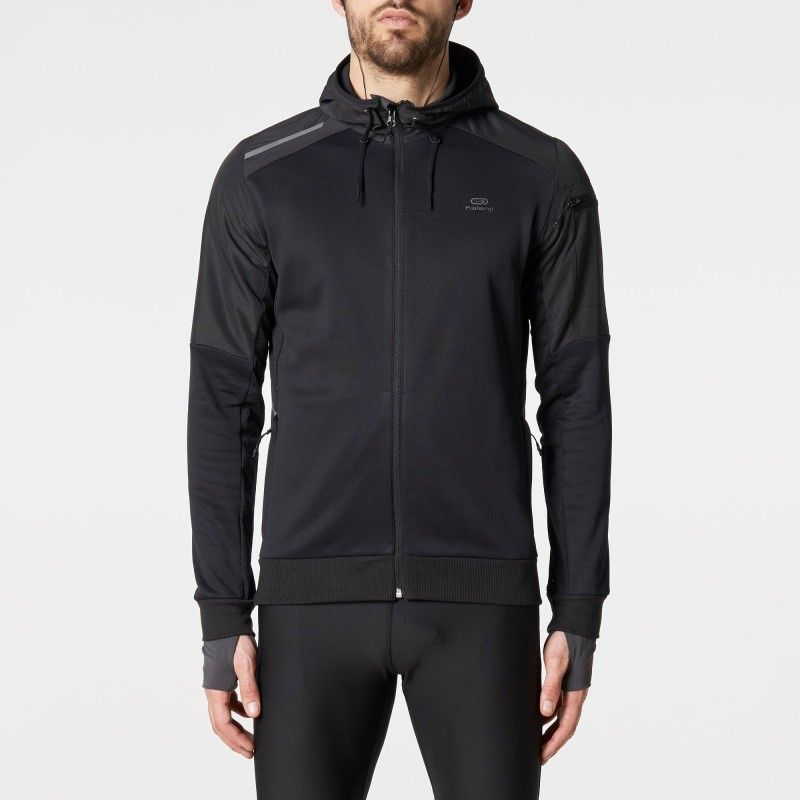 factory outlets discount shop cozy fresh VESTE RUN WARM+ POCKET Noir | Running | Veste et Running homme