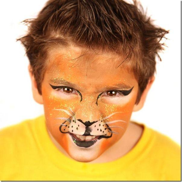Maquillaje de leon 1 pinta caritas pinterest - Pintura cara halloween ...