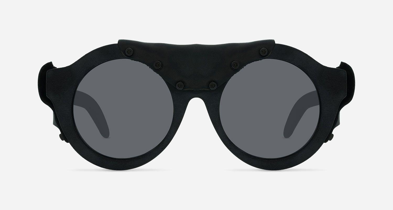 selezione migliore b633d b23bc Kuboraum Sunglasses Mask A2 Burnt Black Leather | Kuboraum