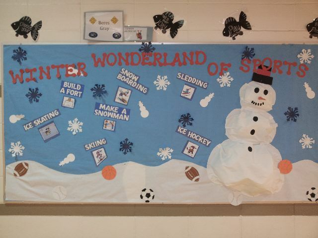 Pec Bulletin Boards For Physical Education School Kids Crafts