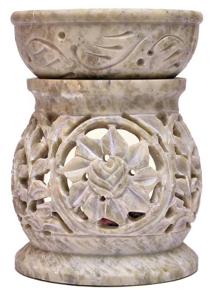Hand Carved Sandstone Oil Burners