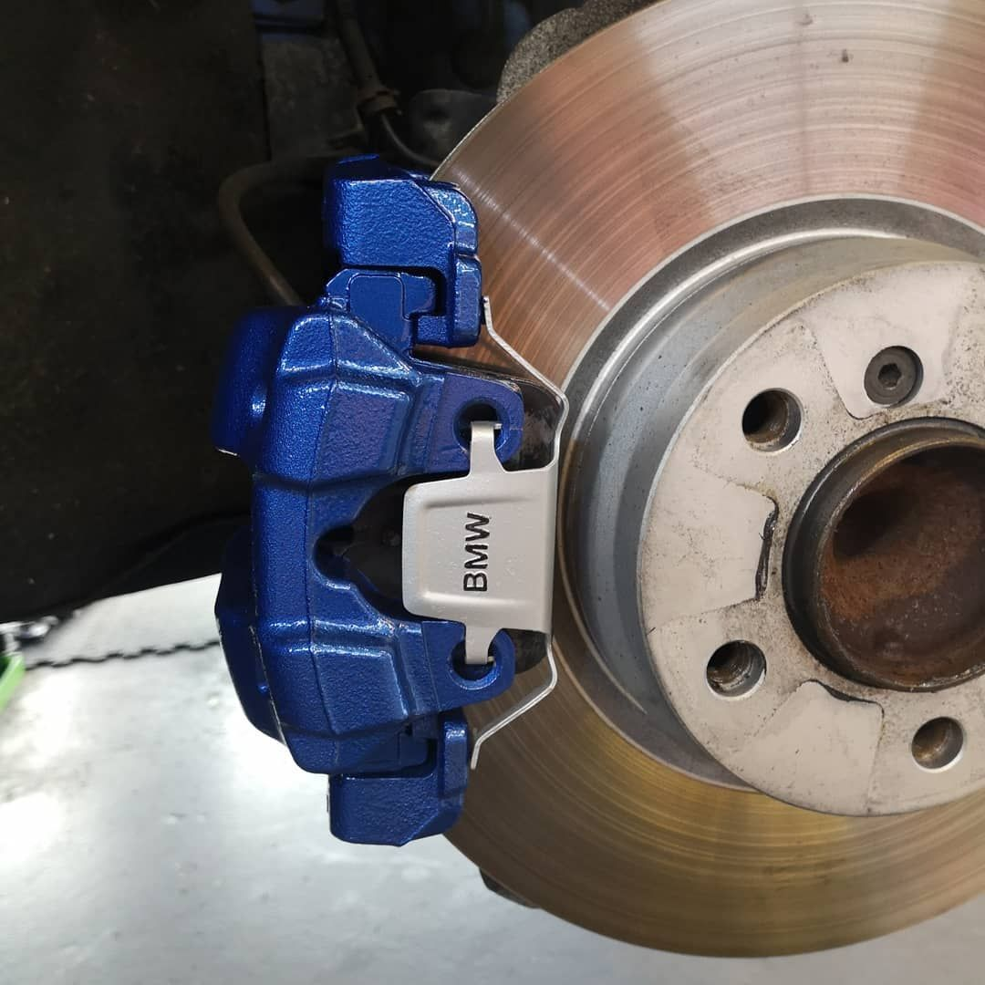 Bmw Came In For Our Brake Caliper Painting Service Bmw Monte
