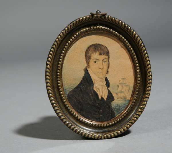W. A. Smith, Inc. New England Finest Auctions-ship captain miniature, 19th century
