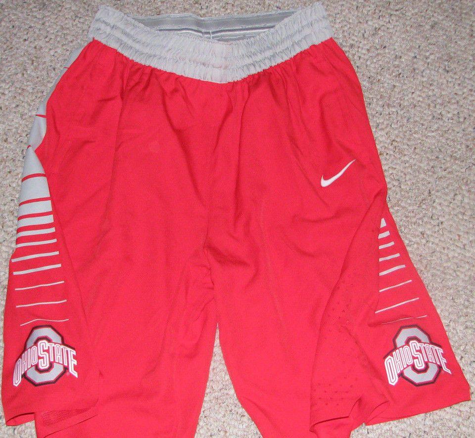 4885fb1d858e Nike Ohio State OSU Buckeyes Hyperelite Gray Elite Basketball Shorts Large  Men s  Nike  OhioStateBuckeyes