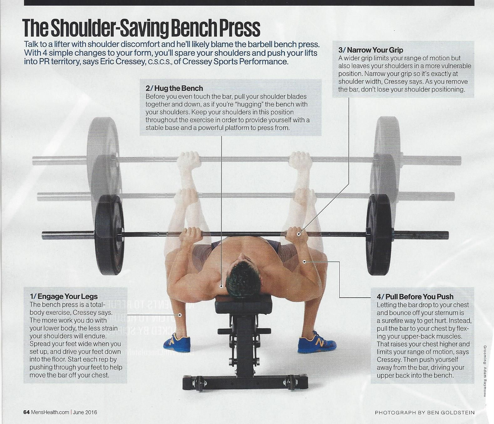 Bench Press Proper Form From Menshealthmag Ns Health Fitness