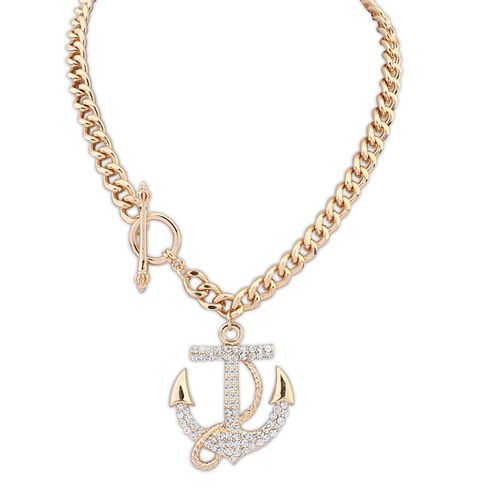 Rhinestone anchor necklace · Golden Sand Jewels · Online Store Powered by Storenvy