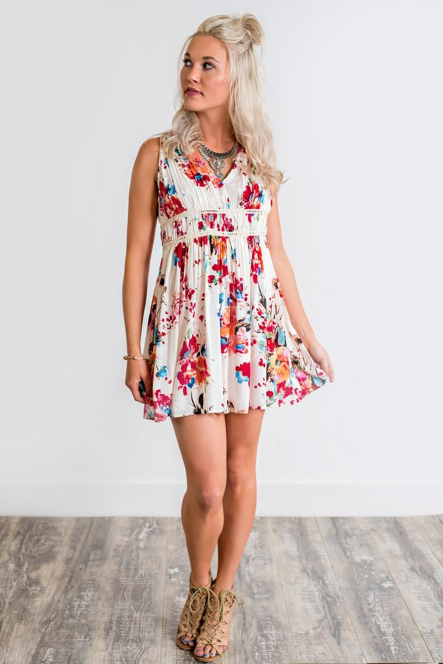 Kayla floral babydoll dress red cute clothes pinterest