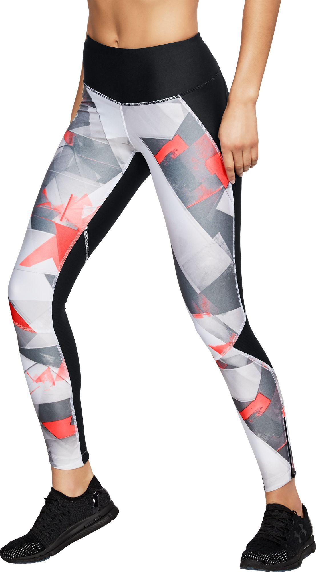 70417f86b5b8f Under Armour Women's Fly Fast Printed Running Tights, Size: Medium, Black