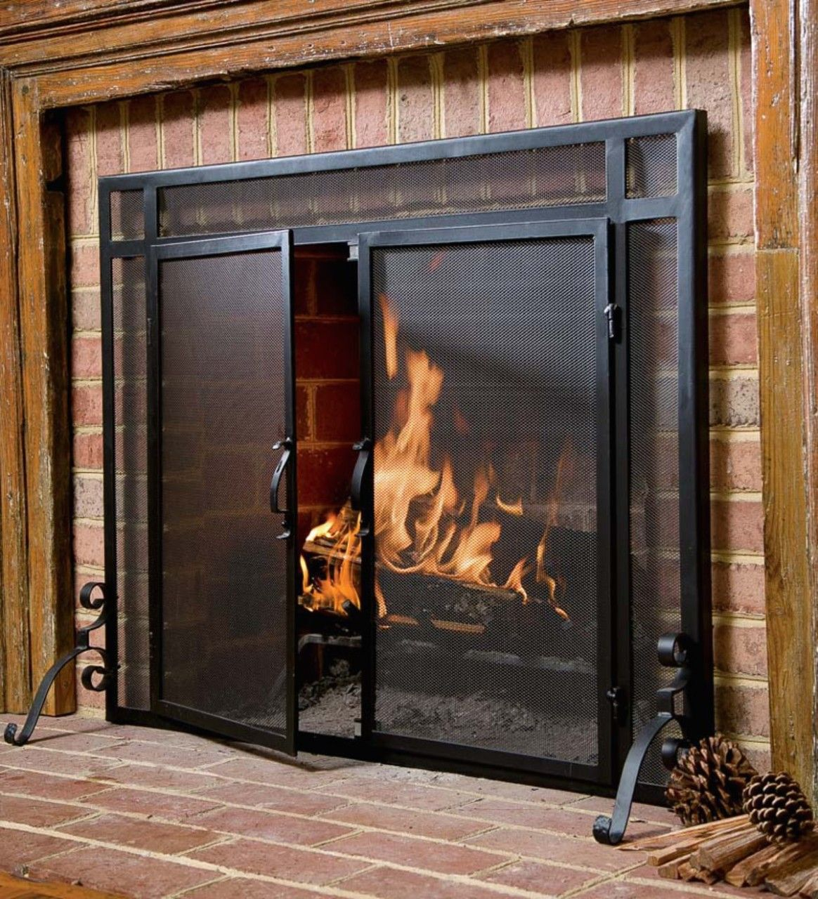 Pin By Talena Ray On Fireplace Screens Fireplace Screens Fireplace Screens With Doors Fireplace